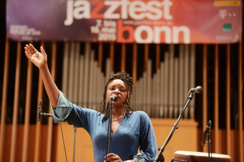 Lizz wright am 9. Mai 2015 in der Aula der Uni Bonn. FOTO: Jazzfest Bonn