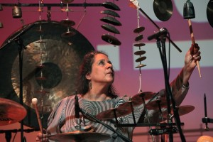 Marilyn Mazur beim Jazzfest Bonn in der Bundeskunsthalle. FOTO: Jazzfest