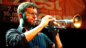 Peter Evans aus New York beim Jazzfest Bonn. FOTO: Akalin