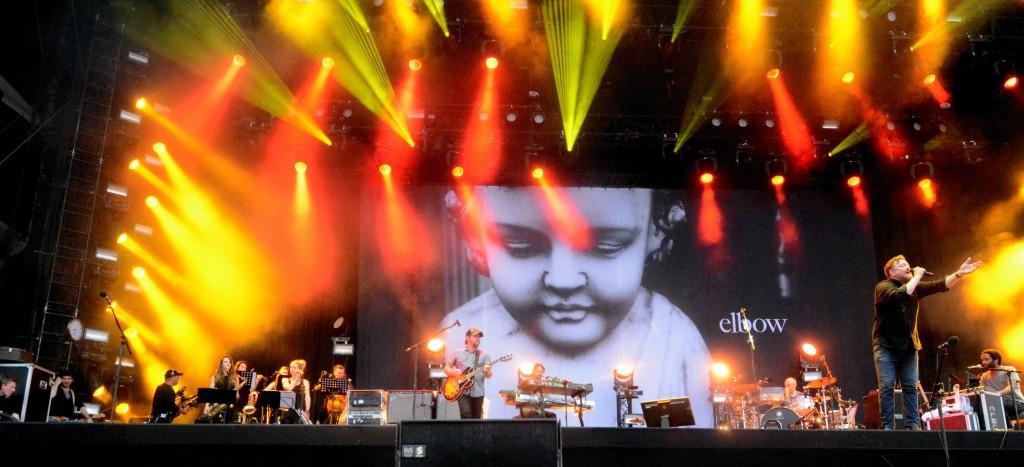 Elbow auf der Hauptbühne des Pinkpop Festivals. FOTO: Horst Müller