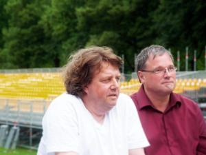 Vor zwei Jahren: Martin J. Nötzel und Ernst-Ludwig Hartz. FOTO: Andrea Künstle